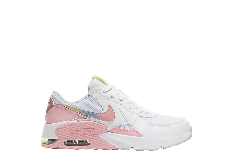 WHITE NIKE Girls Air Max Excee Sneaker