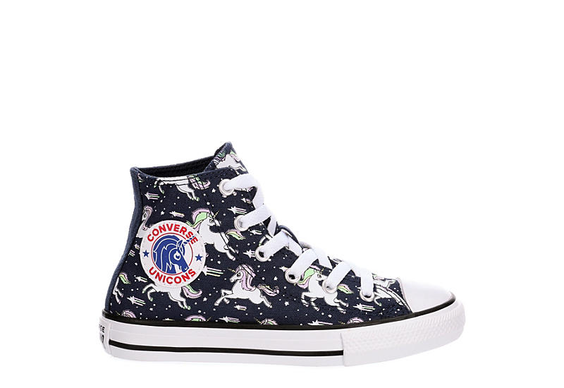 CONVERSE Girls Chuck Taylor All Star Unicorn Ox Sneaker - NAVY