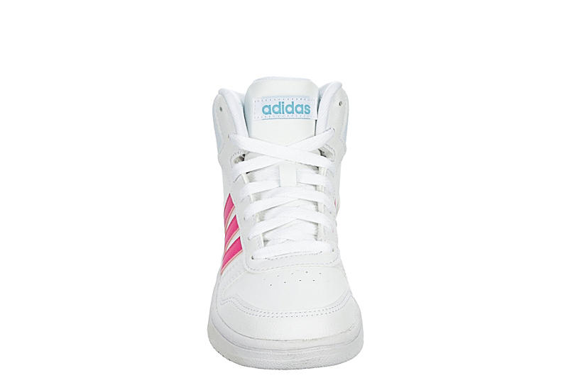 ADIDAS Girls Hoops Mid - WHITE