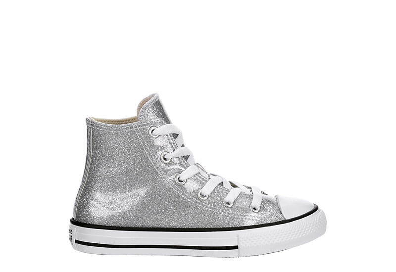 CONVERSE Girls Chuck Taylor All Star Glitter - SILVER