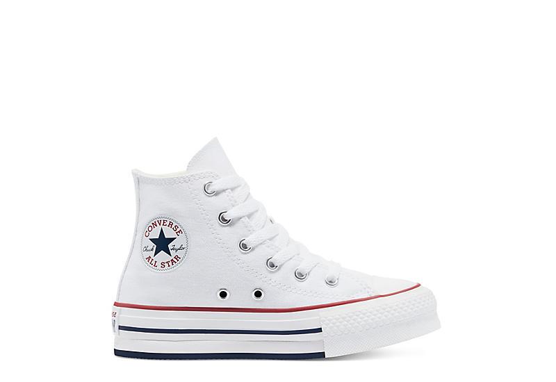 Converse Girls Chuck Taylor All Star High Top Platform Sneaker - White