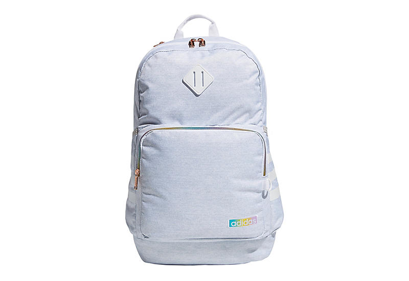 Adidas Womens Jersey White Rainbow Classic 3stripe Backpack - White