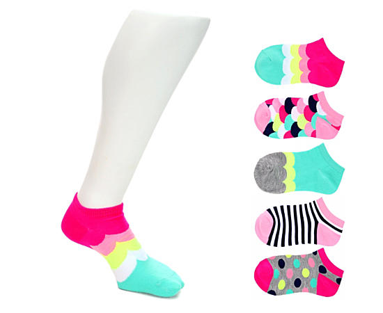Girls 5 Pack Low Cut- Extra Small