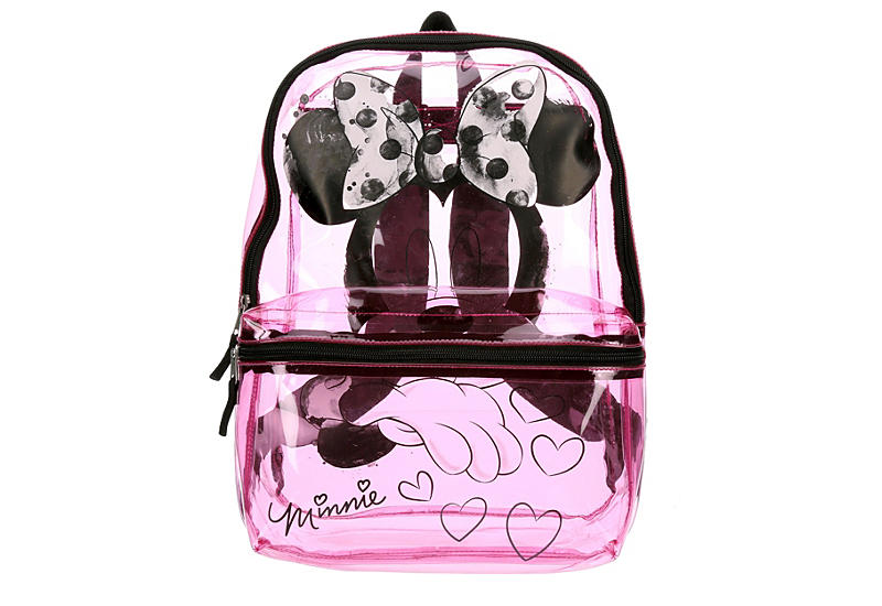 MINNIE MOUSE Girls Clear Backpack - PINK