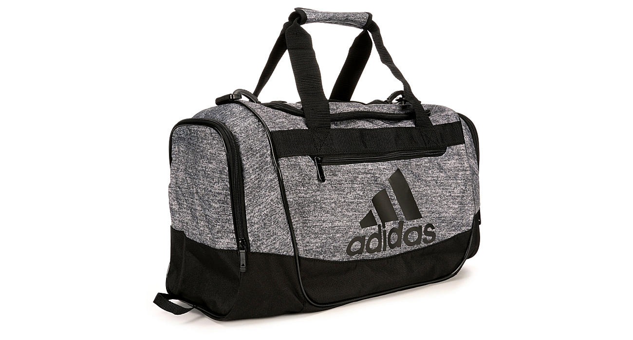 5f46d2debdfa Adidas Mens Defender Iii Small Duffel - Grey