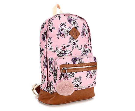 Womens Pompom Backpack