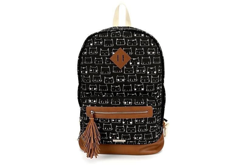MADDEN GIRL Womens Kitty Kat Backpack - BLACK