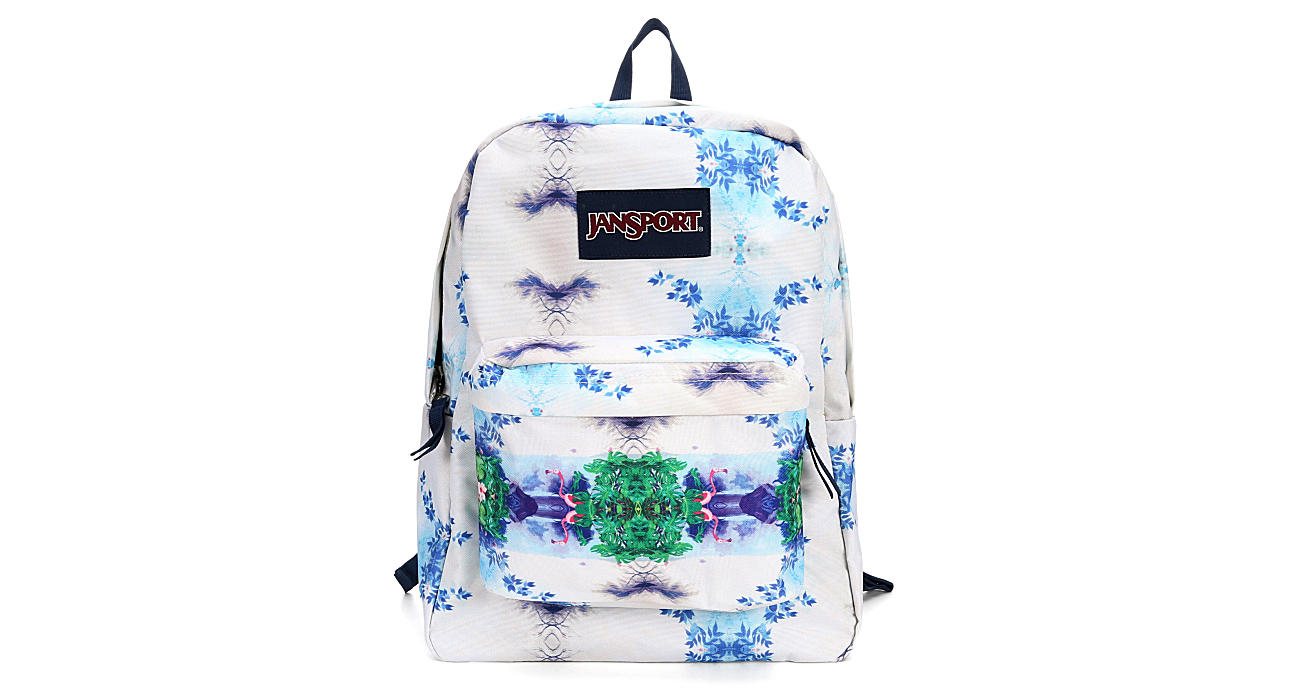 JANSPORT Womens Flamingo Garden Superbreak - WHITE