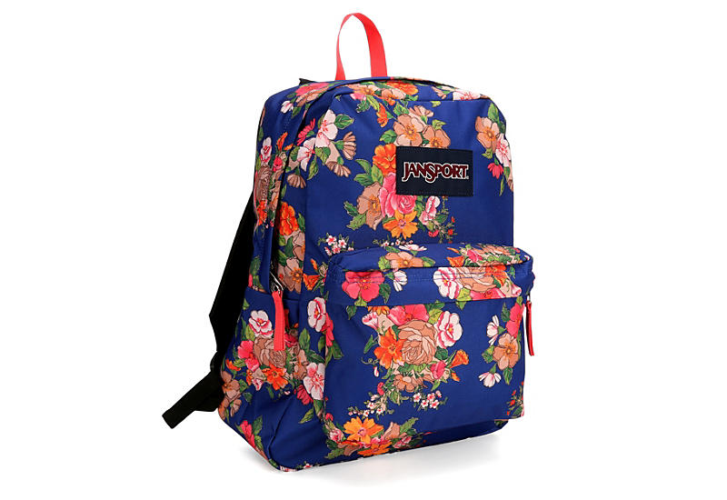 JANSPORT Womens Paper Floral Superbreak - NAVY