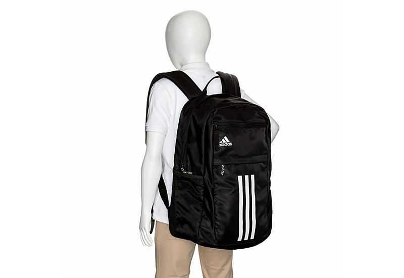 ADIDAS Unisex League 3 Stripe Backpack - BLACK