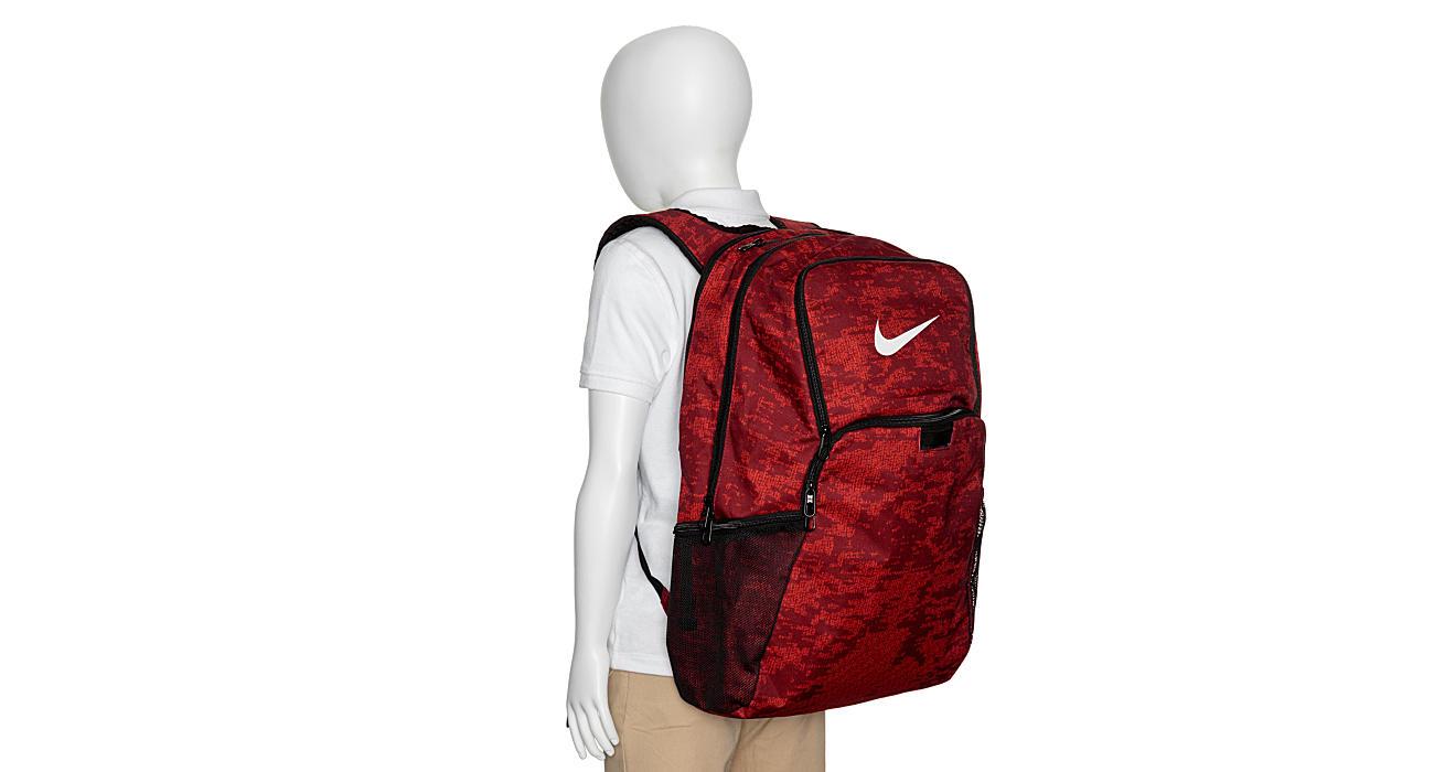 NIKE Unisex Brasilia Xl Aop Backpack - RED