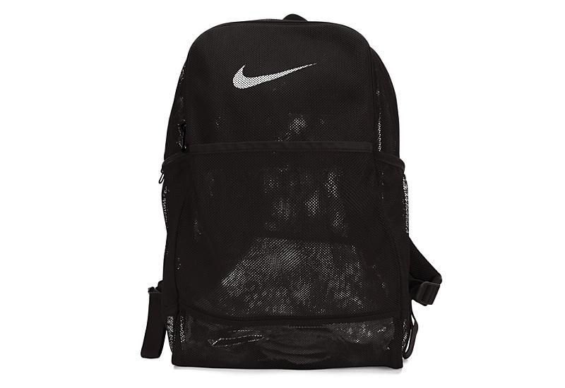 NIKE Unisex Brasilia Mesh Backpack - BLACK