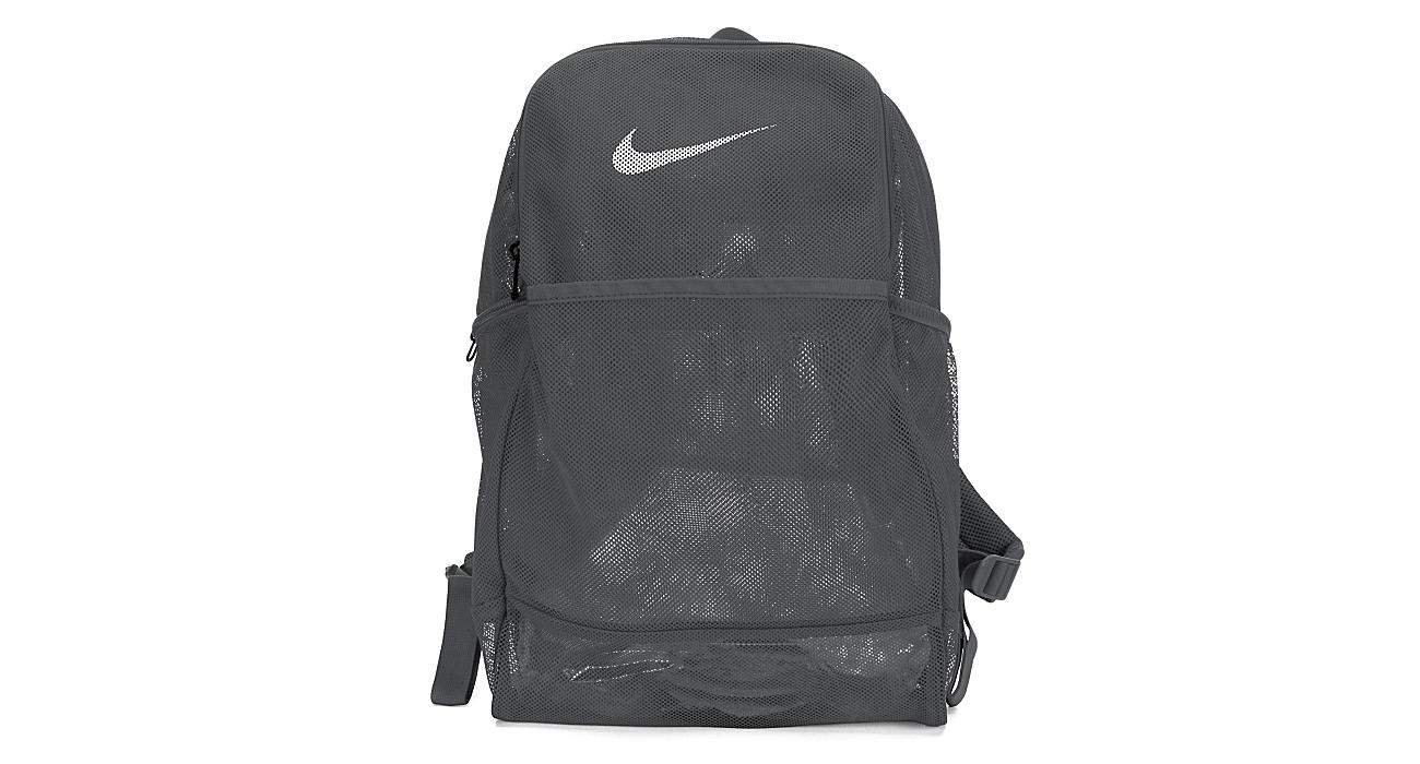 NIKE Unisex Brasilia Mesh Backpack - GREY