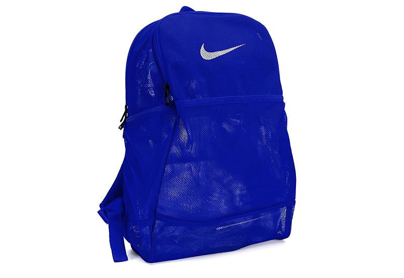 BLUE NIKE Mens Brasilia Mesh Backpack