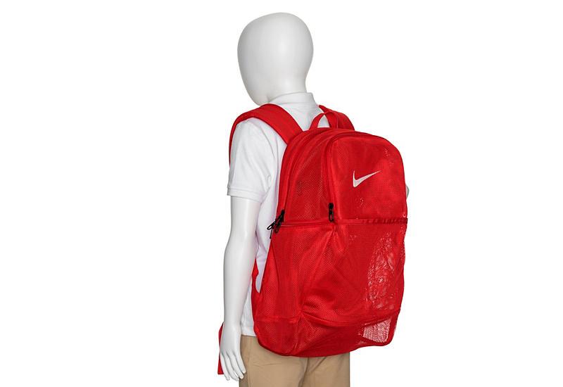 NIKE Unisex Brasilia Mesh Backpack - RED