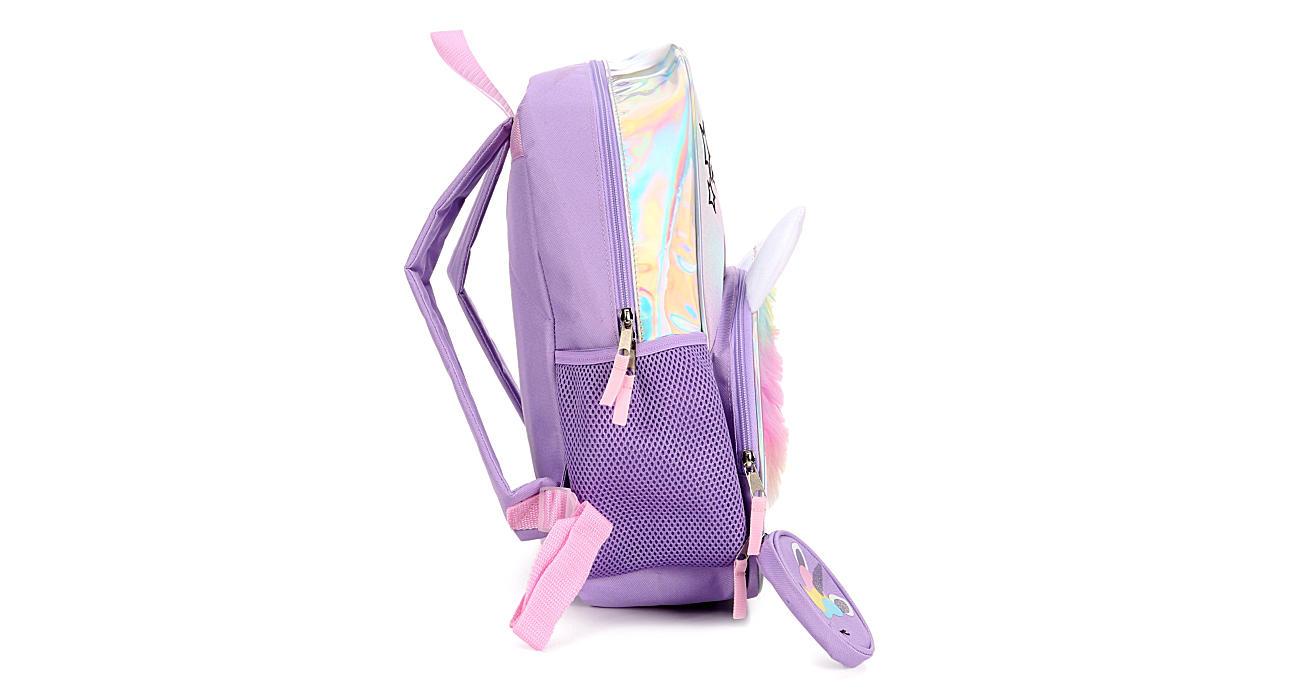 BIO WORLD Girls Unicorn Backpack - PURPLE