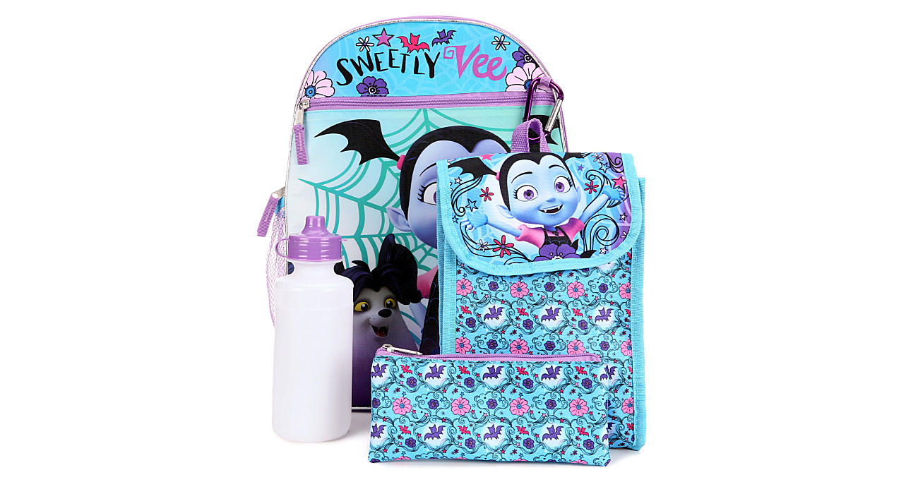 VAMPIRINA Girls 5 Piece Backpack Set - PINK