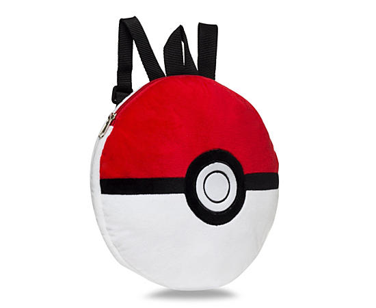 Girls Pokeball Plush Backpack