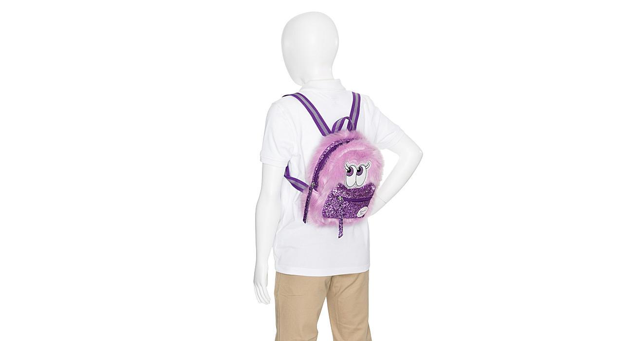 Skechers Girls Fuzzy Mini Backpack - Purple 13eb2bbb99cf7