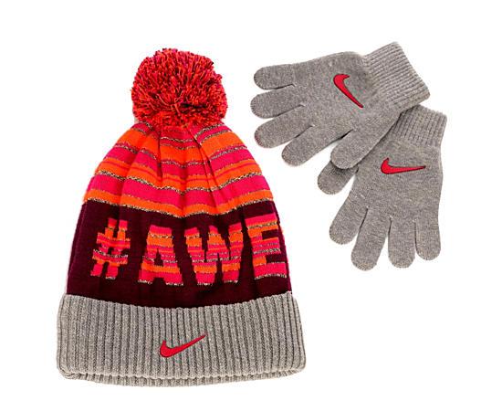Girls Pompom Hat And Glove Set