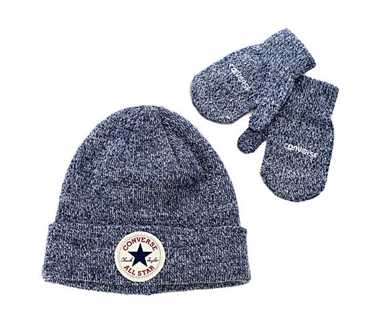 Boys Toddler Hat And Mitten Set