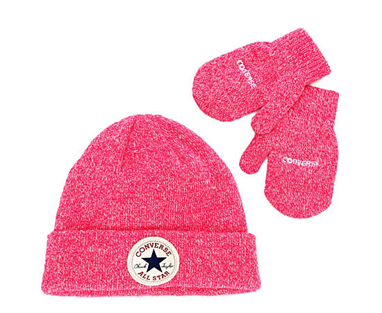 Girls Toddler Hat And Mitten Set