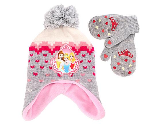Girls Hat And Mitten Set