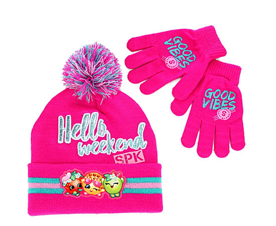 Girls Hat And Mitten Set