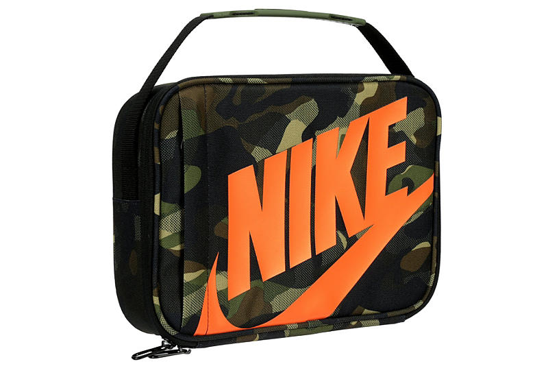 Orange Nike Boys Camo Lunch Bag