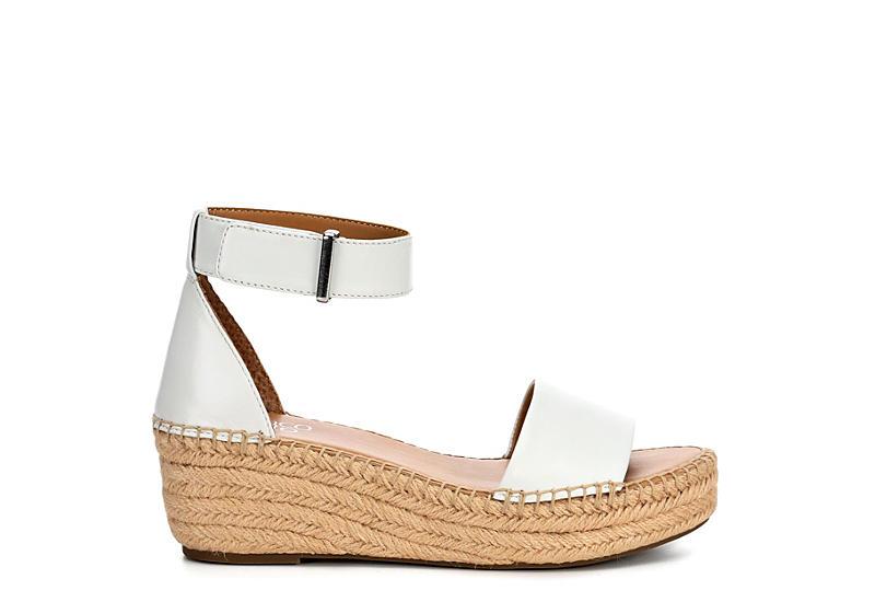 FRANCO SARTO Womens Pela Espadrille Wedge Sandal - WHITE