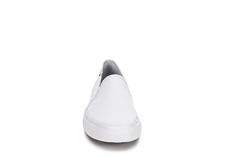 KEDS Womens Double Decker Slip On Sneaker - WHITE