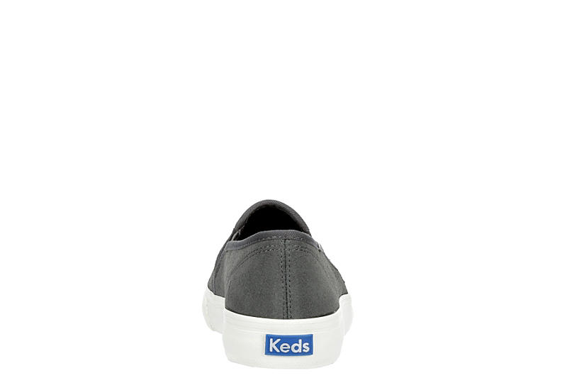 KEDS Womens Double Decker Slip On Sneaker - GREY
