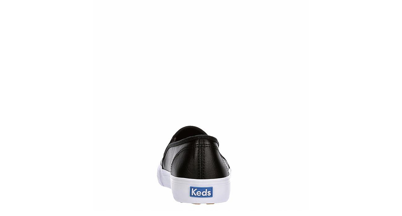KEDS Womens Double Decker Slip On Sneaker - BLACK