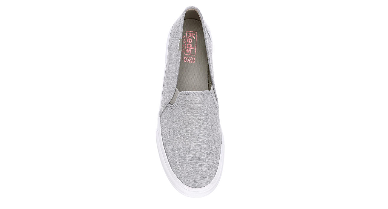 KEDS Womens Double Decker Slip On Sneaker - PALE GREY