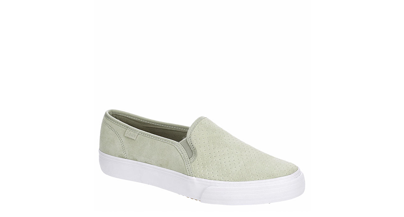 KEDS Womens Double Decker Slip On Sneaker - PALE GREEN