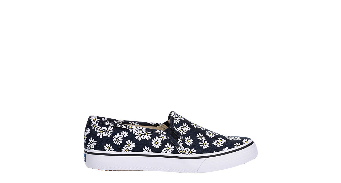 KEDS Womens Double Decker Slip On Sneaker - NAVY