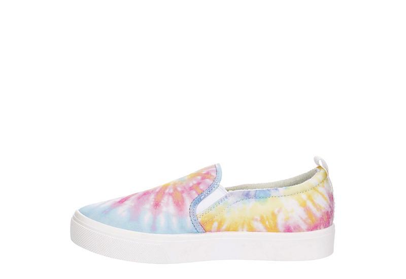 SKECHERS Womens Poppy - Hippie Hype Slip On Sneaker - WHITE