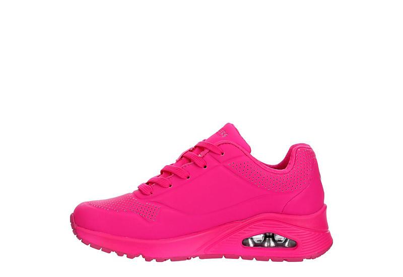 SKECHERS Womens Uno-neon Nights Sneaker - BRIGHT PINK