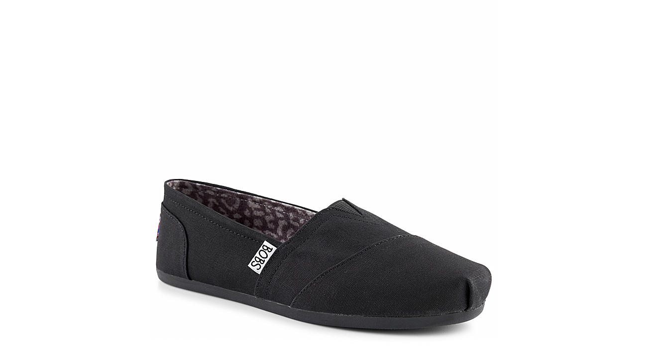 SKECHERS BOBS Womens Bobs Plush Peace  Love - BLACK