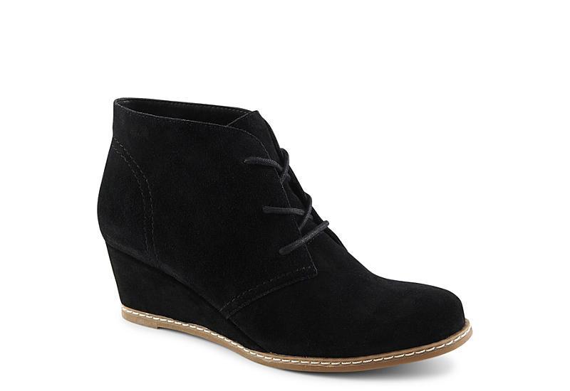 MICHAEL BY MICHAEL SHANNON Womens Rebeka Wedge Bootie - BLACK