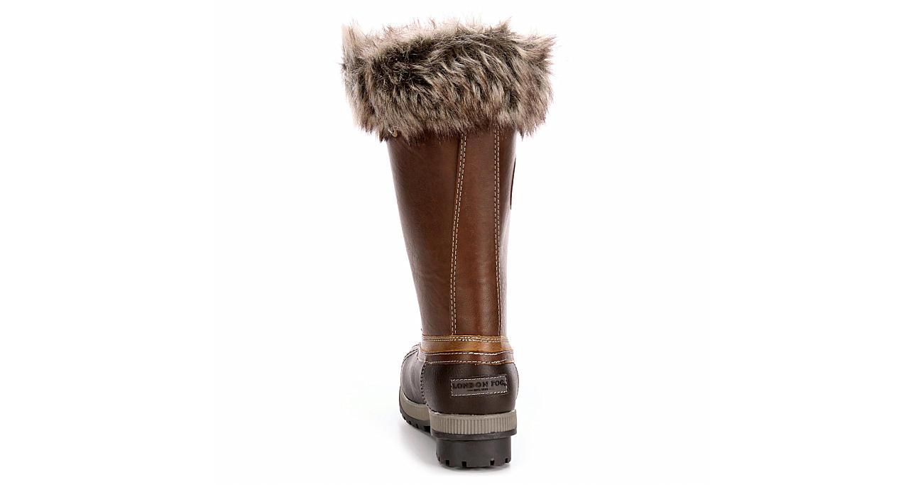 LONDON FOG Womens Melton2 Cold Weather Duck Boot - COGNAC