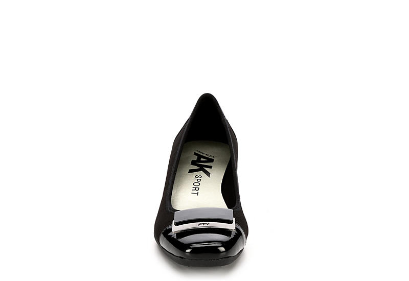 ANNE KLEIN Womens Waverly Wedge Pump - BLACK