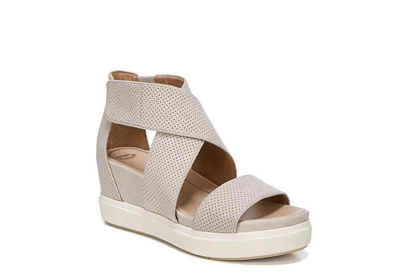 DR. SCHOLL'S Womens Sheena Platform Wedge Sandal - OFF WHITE