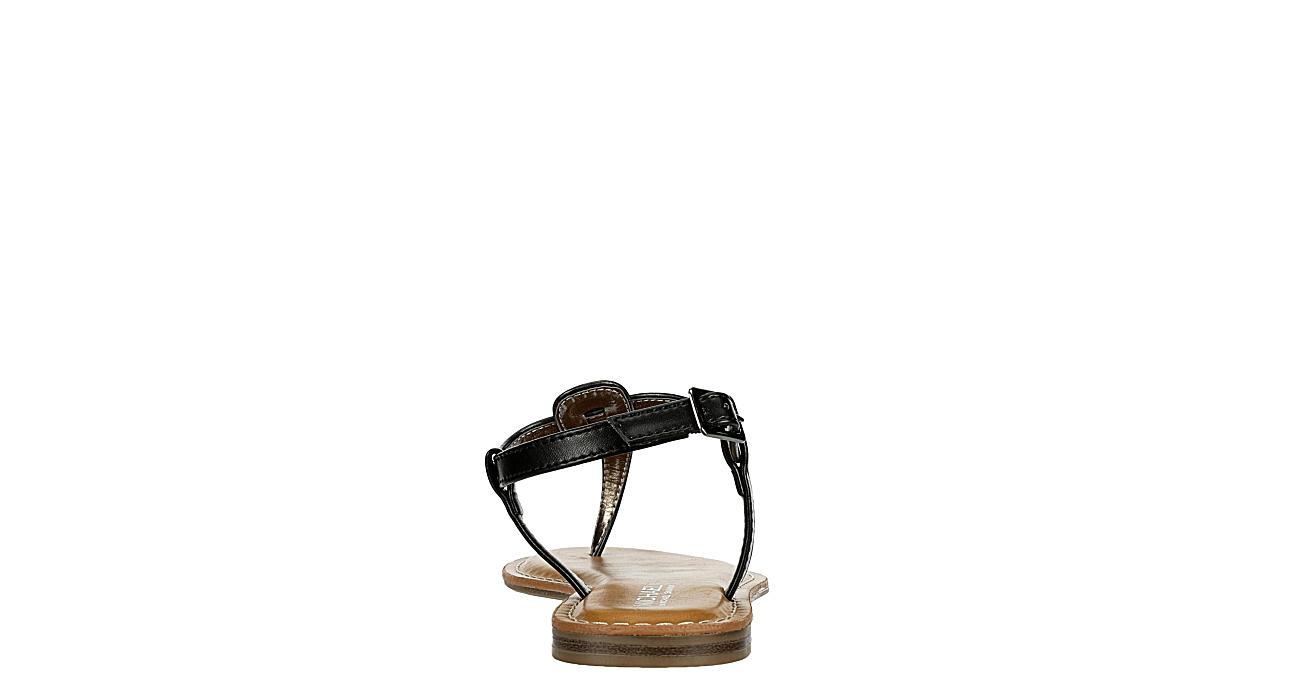 MICHAEL BY MICHAEL SHANNON Womens Callie Flat Sandal - BLACK