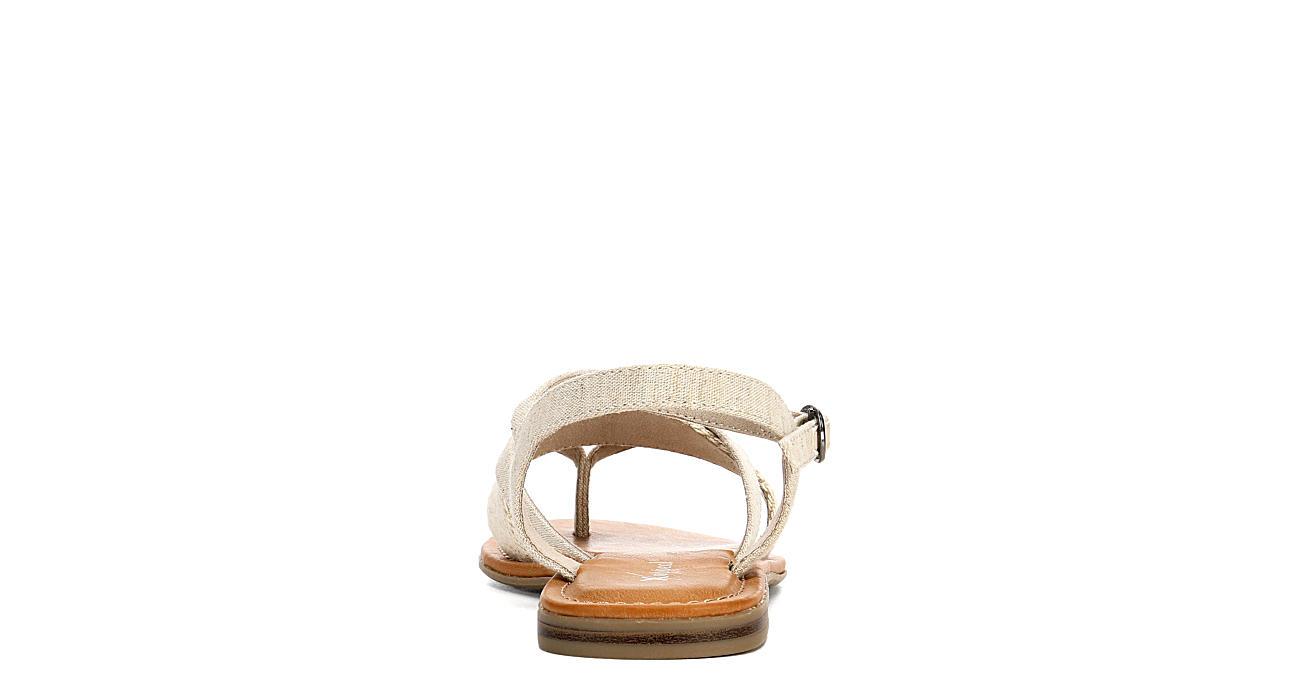 XAPPEAL Womens Ashton Flat Sandal - BEIGE