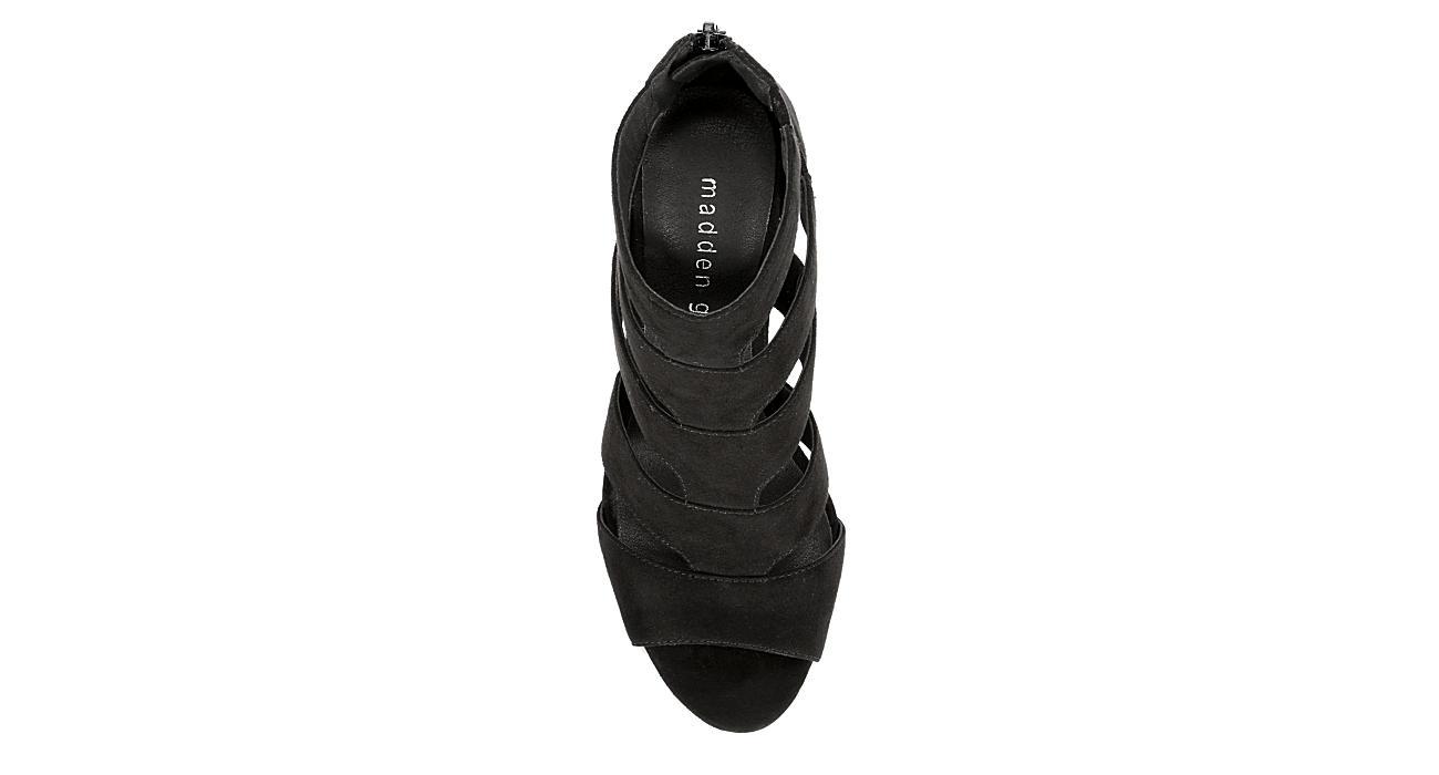MADDEN GIRL Womens Bolt Heeled Sandal - BLACK