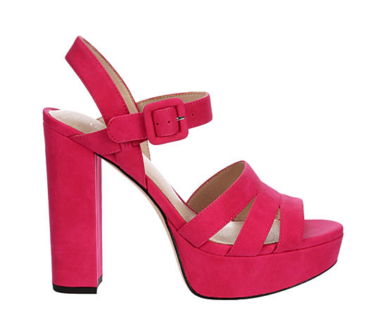 Womens Crystal Platform Sandal