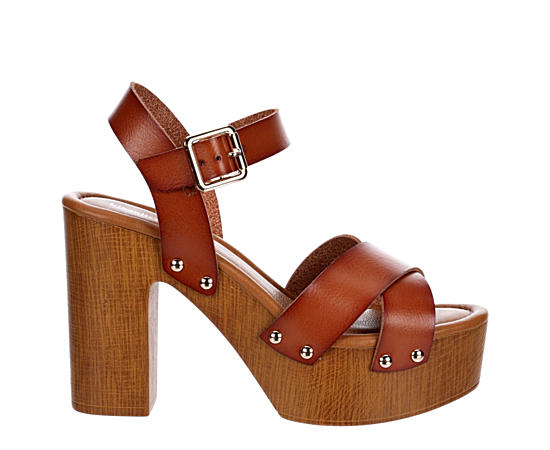 Womens April Wooden Heel