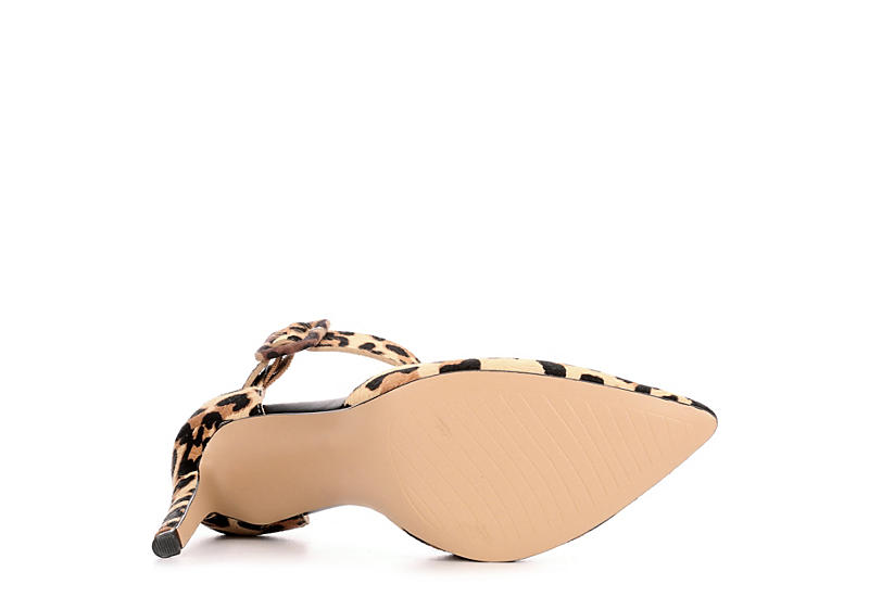 MICHAEL BY MICHAEL SHANNON Womens Ravenna Ponted Toe Pump - LEOPARD