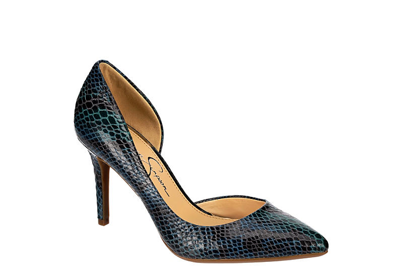 JESSICA SIMPSON Womens Leesy Pointed Toe Heel - TEAL